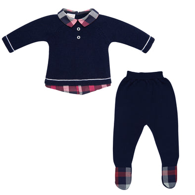 Baby Boys Wool Knit Sweater & Leggins Set