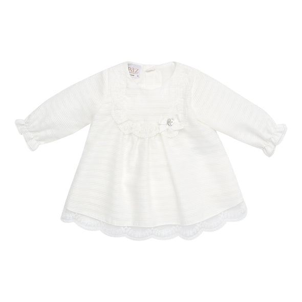 Baby Girls Wool Woven Dress & Bloomers Set