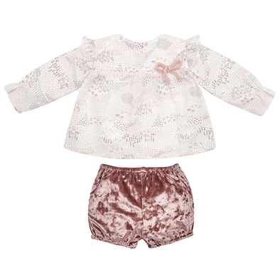 Baby Girls Woven Blouse & Trousers Set