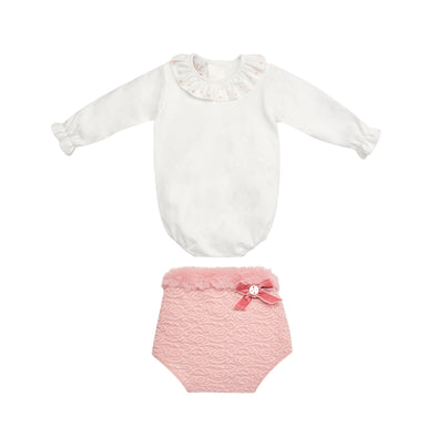 Baby Girls Knit Body & Bloomers Set