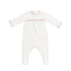 Baby Girls Cream Knit Romper