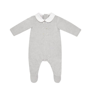 Baby Boys Grey Knit Romper