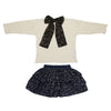 Knit Infant Girls Pullover & Woven Infant Girls Skirt