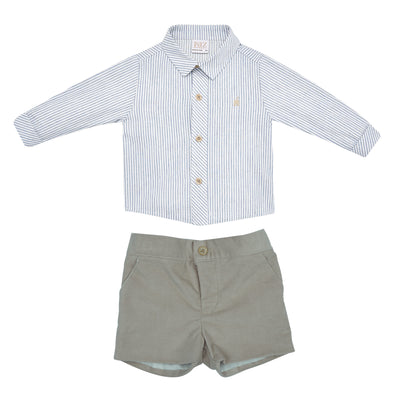 Baby Boys Woven Shirt & Short Set