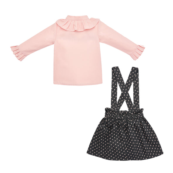Woven Infant Girl Blouse & Knit Infant Girl Skirt