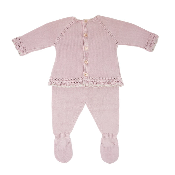 Girls Cotton Babygrow 2 Pieces
