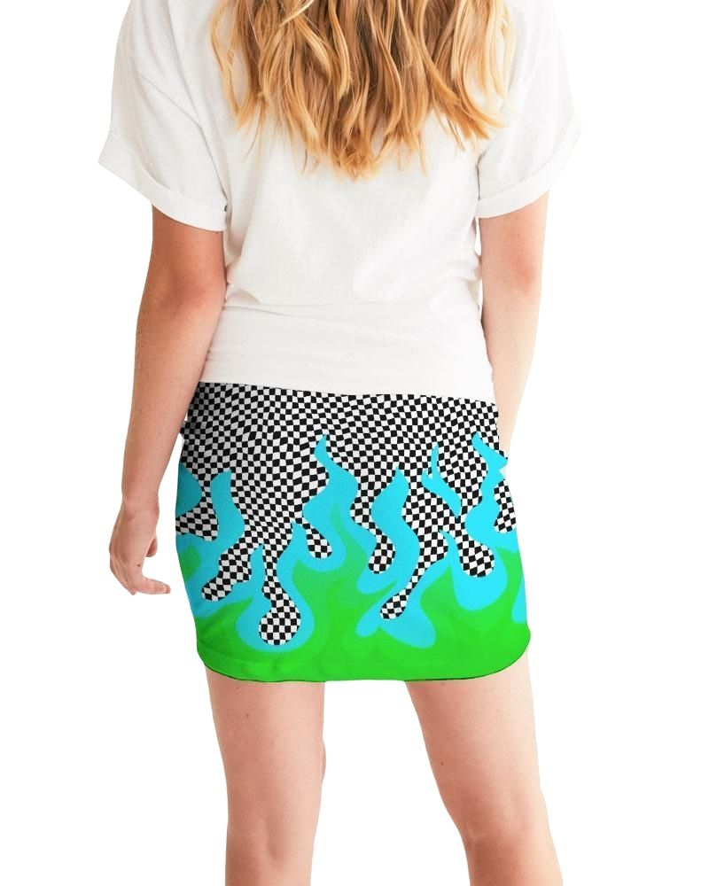 Up In Flames Mini Skirt