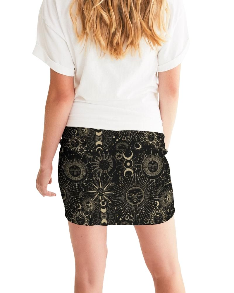 Celestial Spirit Bodycon Mini Skirt