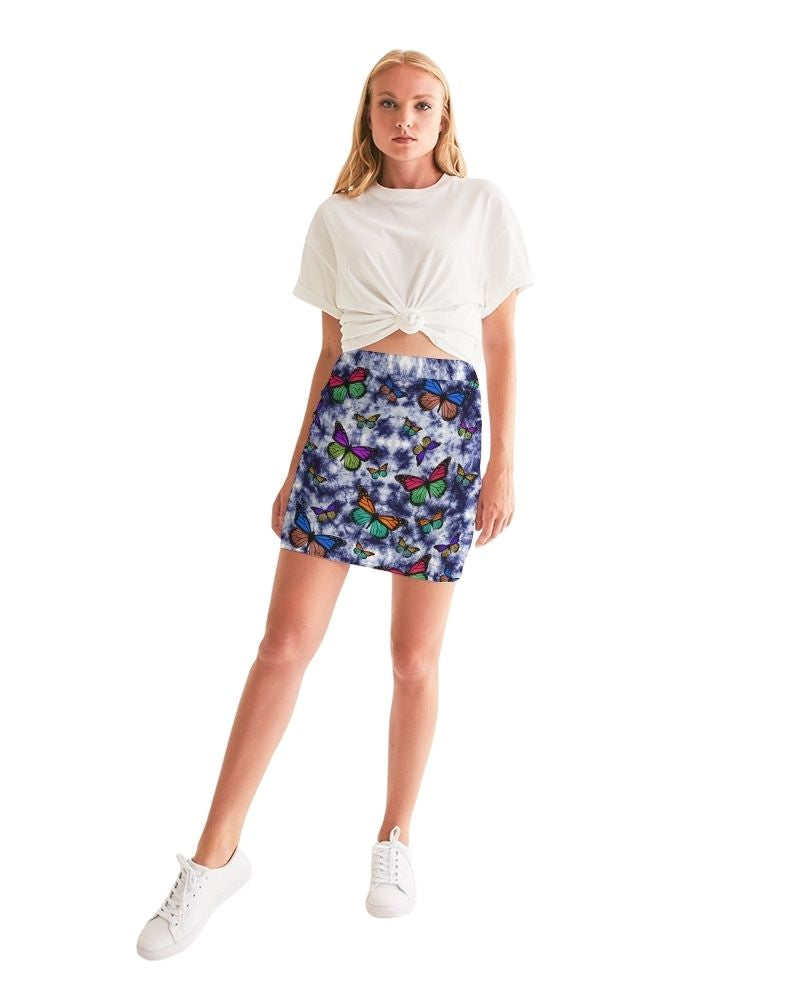Butterfly Skies Bodycon Mini Skirt