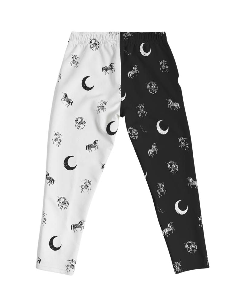 Bella Muerte Black & White Split Joggers