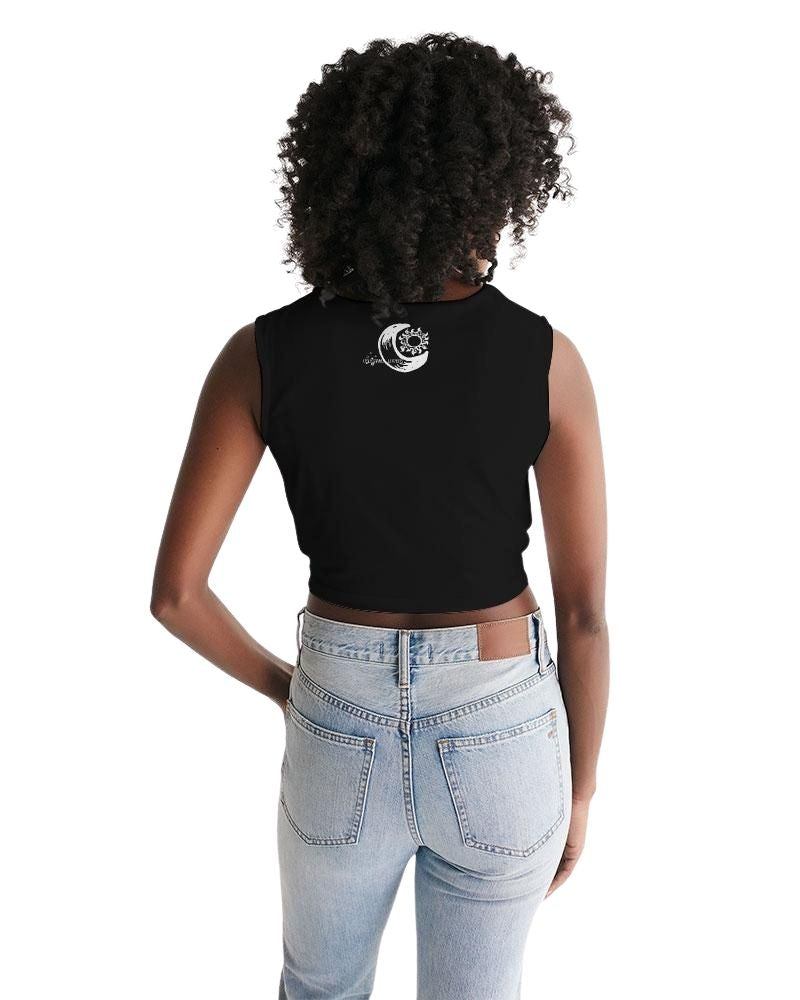 Celestial Lovers Twist-Front Tank Crop