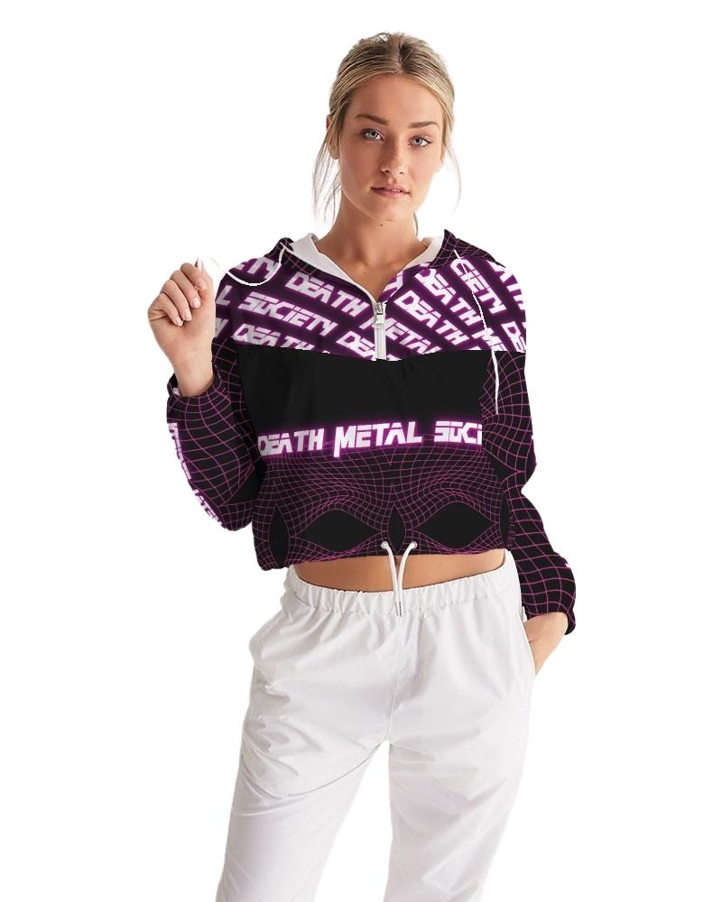 Death Metal Society Cropped Windbreaker