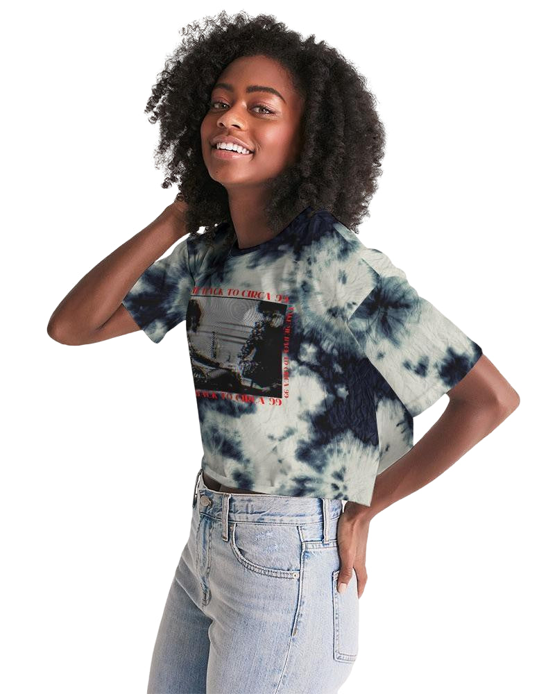 Circa '99 Indigo Acid Wash Cropped Tee