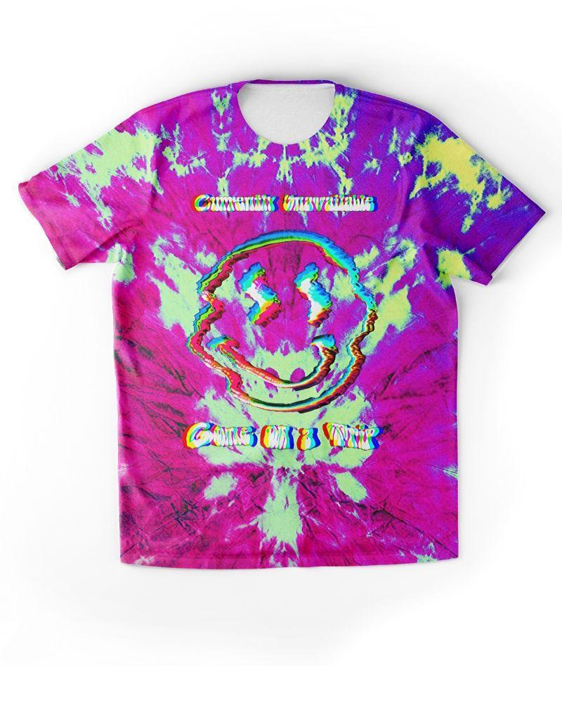 Neon Underground Apparel Ethically Made Sustainable Clothing for Alternative Girls Tie Dye Shirt Grunge Aesthetic 90s Style Clothing Tie Dye Graphic Tee