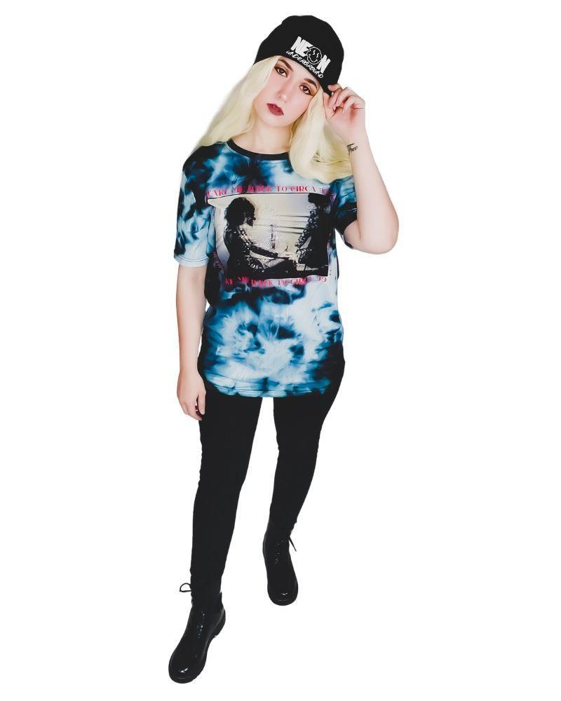 Tops Neon Underground Apparel S Take Me Back to Circa '99 Acid Wash Graphic Tee Grunge Nostalgic Nu-Goth Tumblr Aesthetic Alternative Clothing Pastel Goth Pastel Goth Soft Grunge 90s Grunge