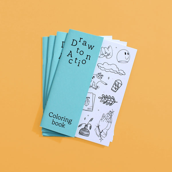 Draw to Action Coloring Book
