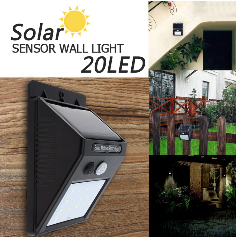 Solar Powered Motion Sensor Security Light