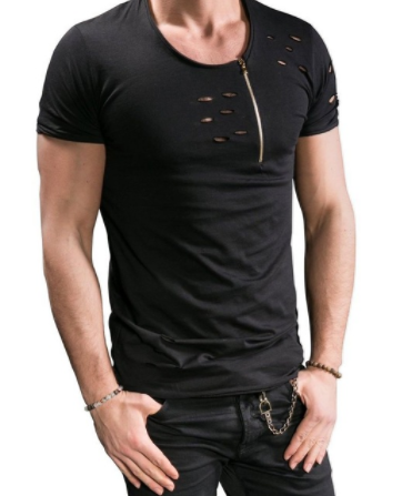 Mens Distressed T Shirt