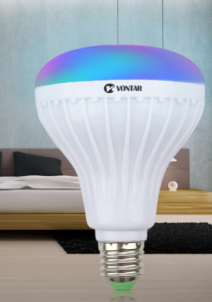 Wireless Bluetooth Speaker+12W RGB Bulb LED Lamp