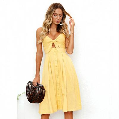 Button & Bow Sundress