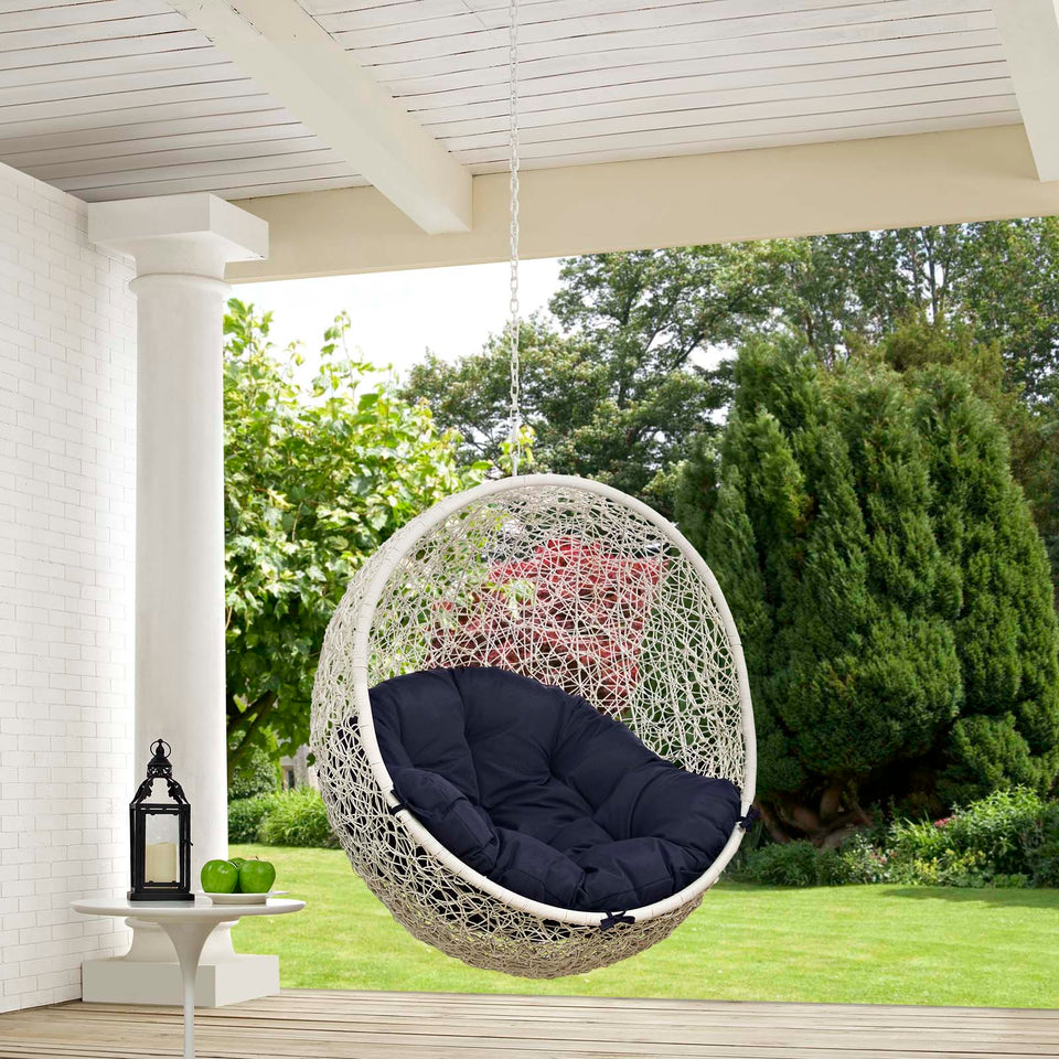 Hide Outdoor Patio Swing Chair Without Stand In White Minds Modern Interiors Network Design Source