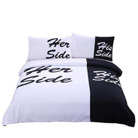 His Side Her Side Bedding ( Duvet Cover + 2 Pillow Cases)