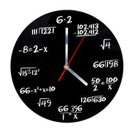 Math Geek Wall Clock