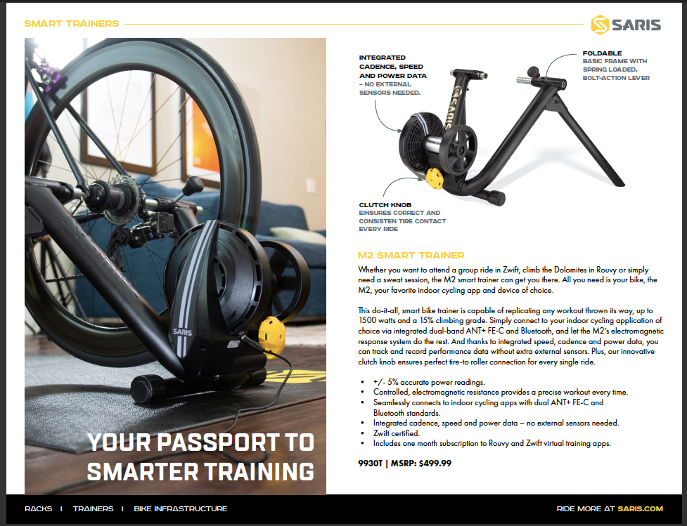 Saris M2 Smart Trainer (IN-STOCK NOW)