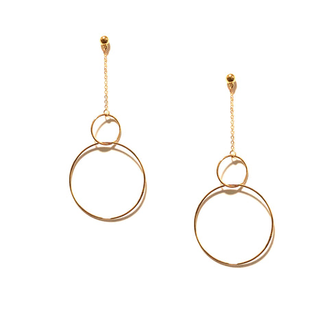 NATALIA DOUBLE HOOP DROP IN GOLD
