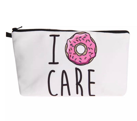 COSMETIC JEWELLERY BAG - I DONUT CARE