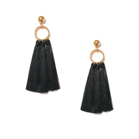 KAMILA TASSEL IN BLACK