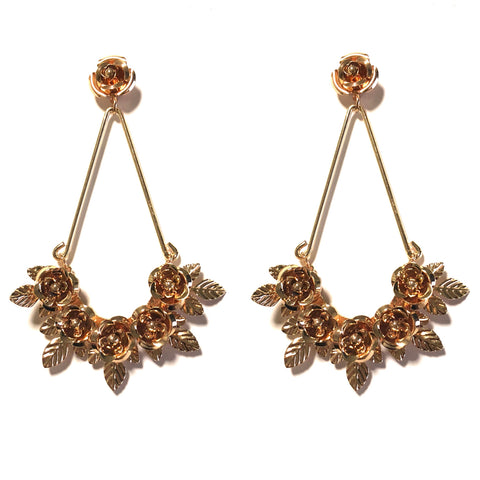 LAVINIA METAL FLORAL DROP