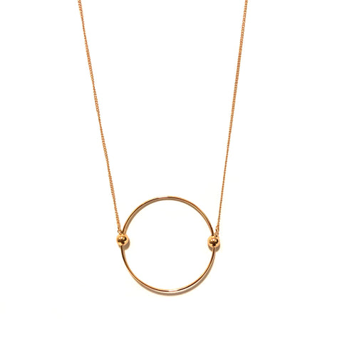 HOOP NECKLACE IN GOLD