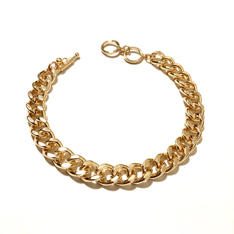 HEAVY CHAIN CHOKER IN GOLD