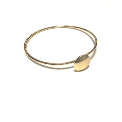 BRUSHED GOLD BANGLE