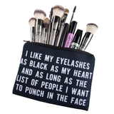 COSMETIC JEWELLERY BAG - I LIKE MY LASHES