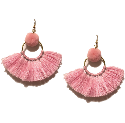 LILA POM POM AND TASSEL IN PINK