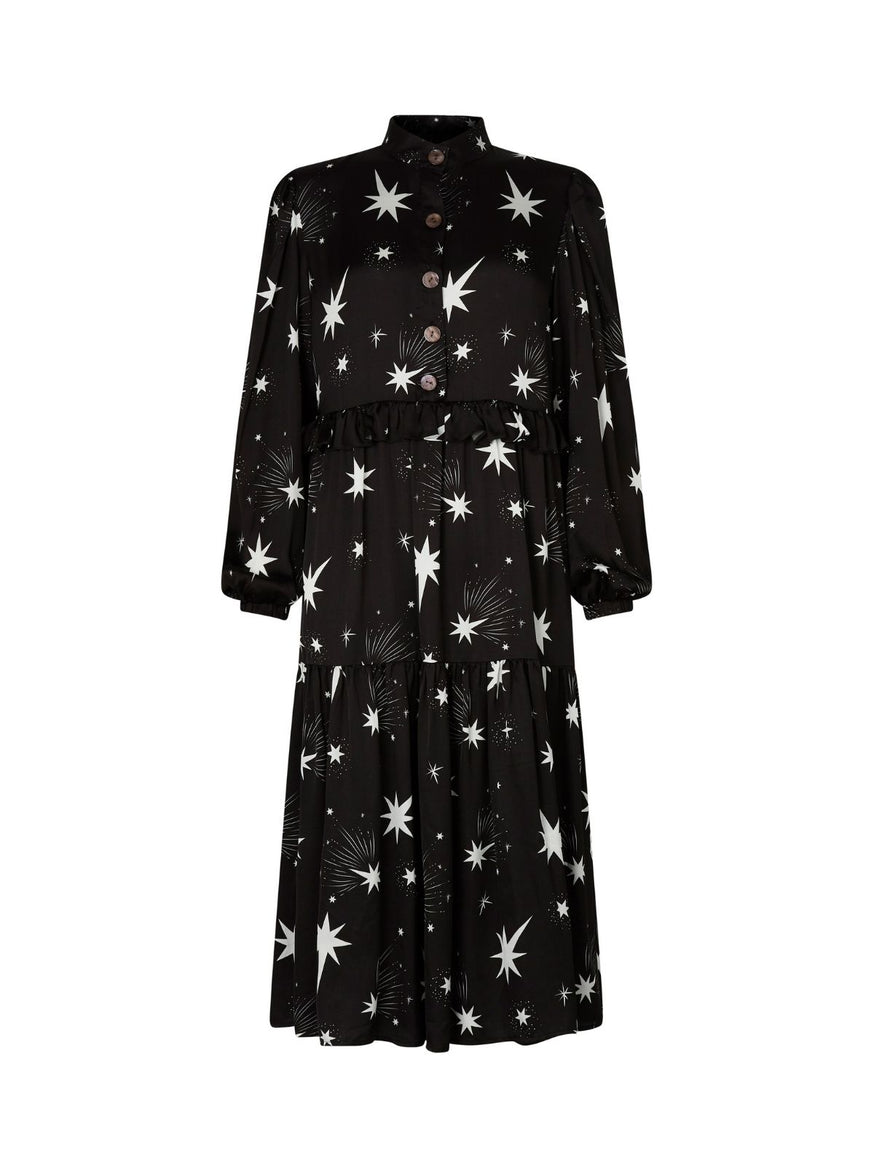 Abigail Star Print Midi Dress by KITRI Studio