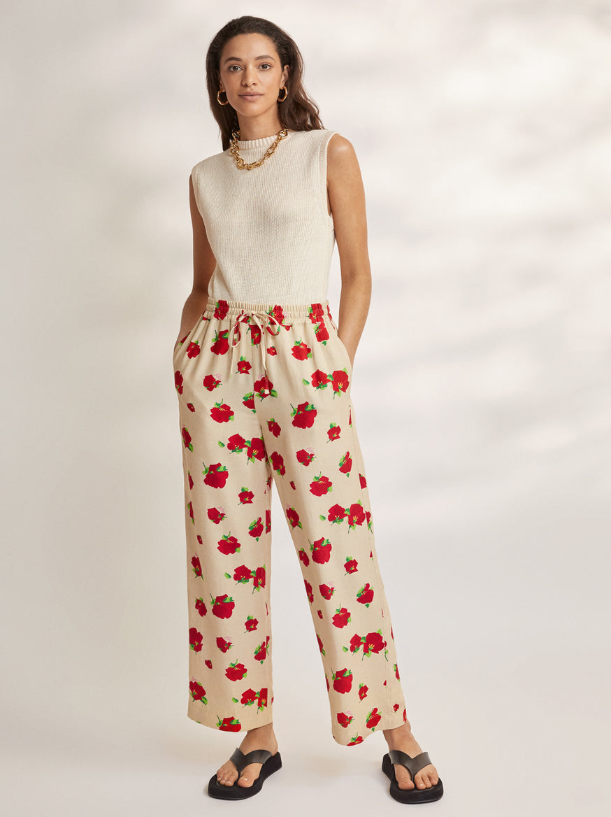Adagio Floral Elasticated Trousers by KITRI Studio