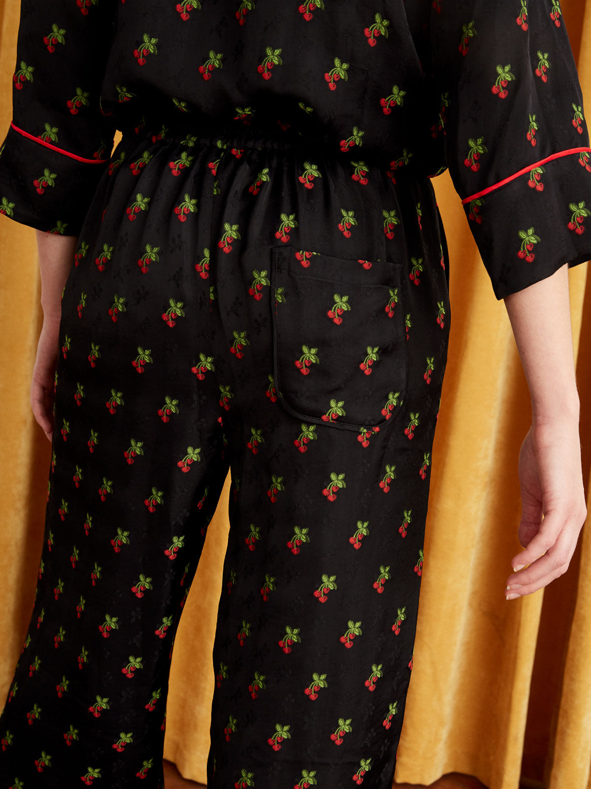 Agatha Black Cherry PJ Culotte Trousers by KITRI Studio