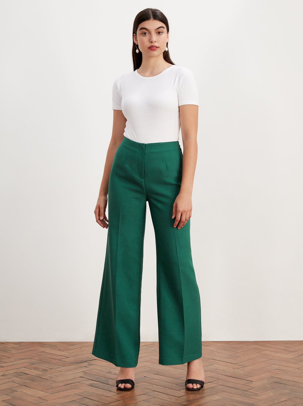 Agnes Green Tailored Trousers by KITRI Studio