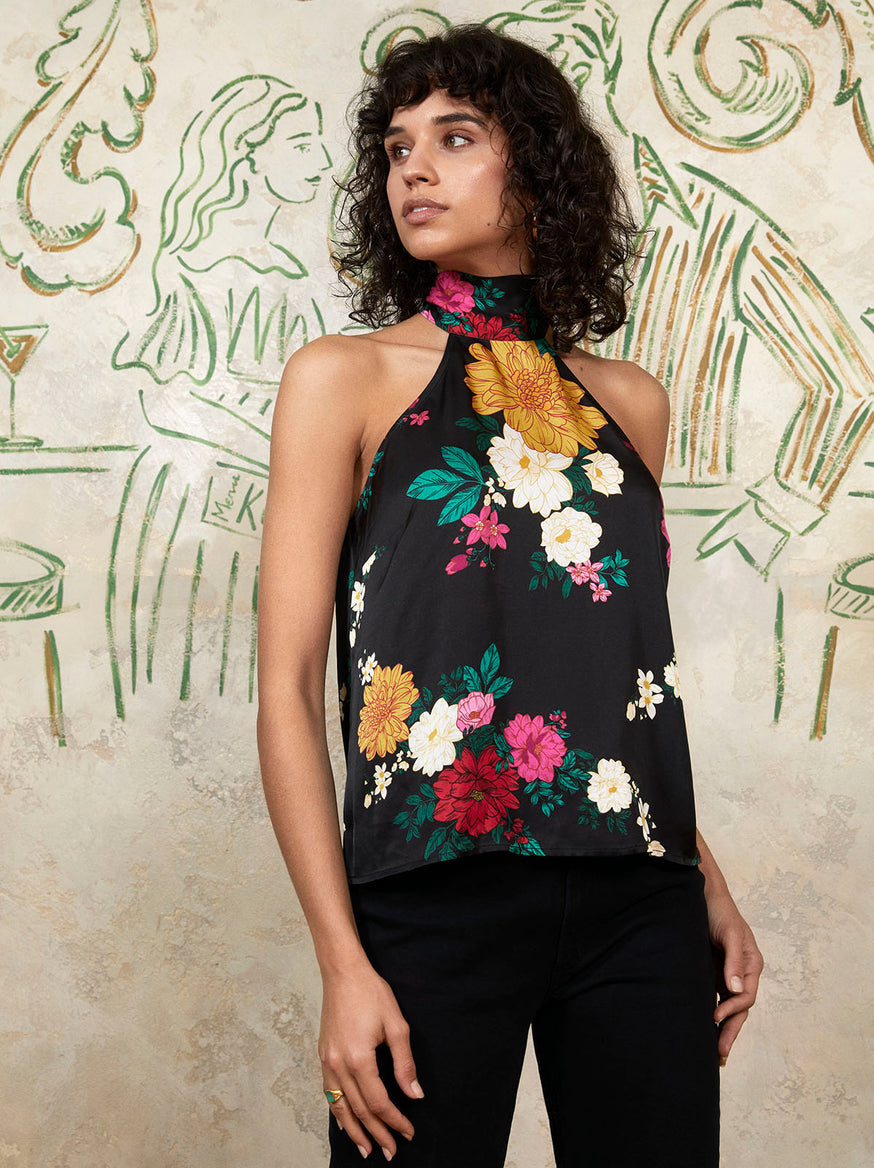Alexa Floral Halter Top by KITRI Studio