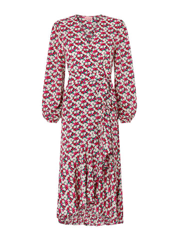 Anissa Floral Print Wrap Dress by KITRI Studio