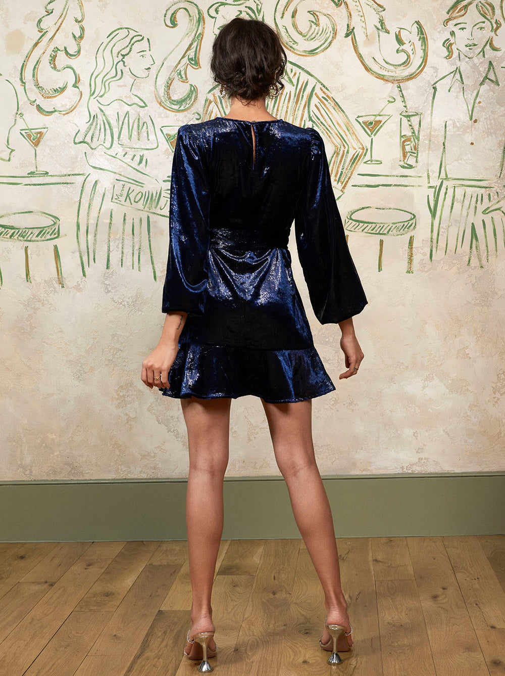 Antoinette Metallic Velvet Mini Dress by KITRI Studio