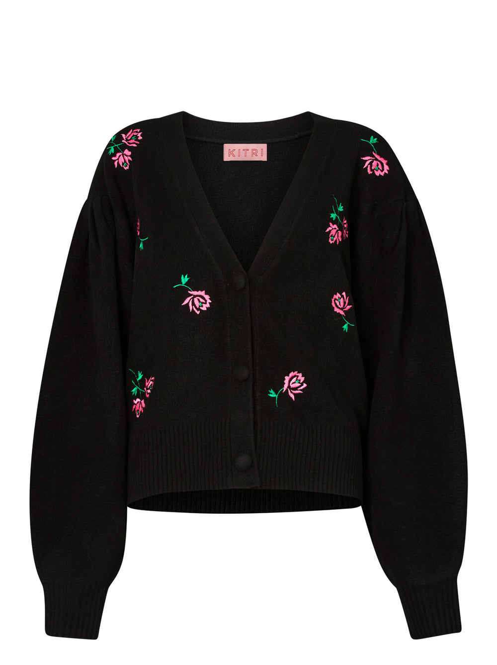 Beth Rose Embroidered Cardigan