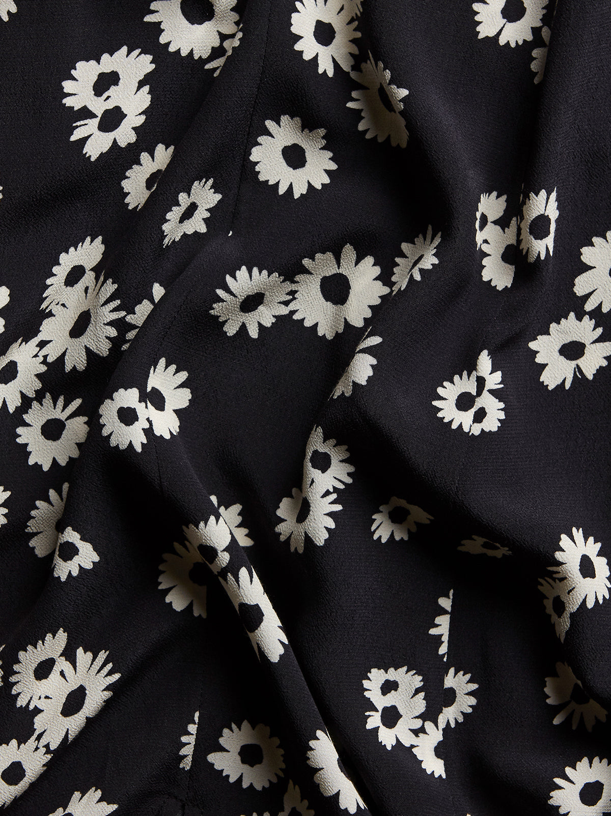Elly Black Daisy Print Dress