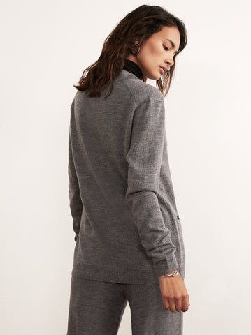 Bonnie Grey Merino Wool Cardigan by KITRI Studio