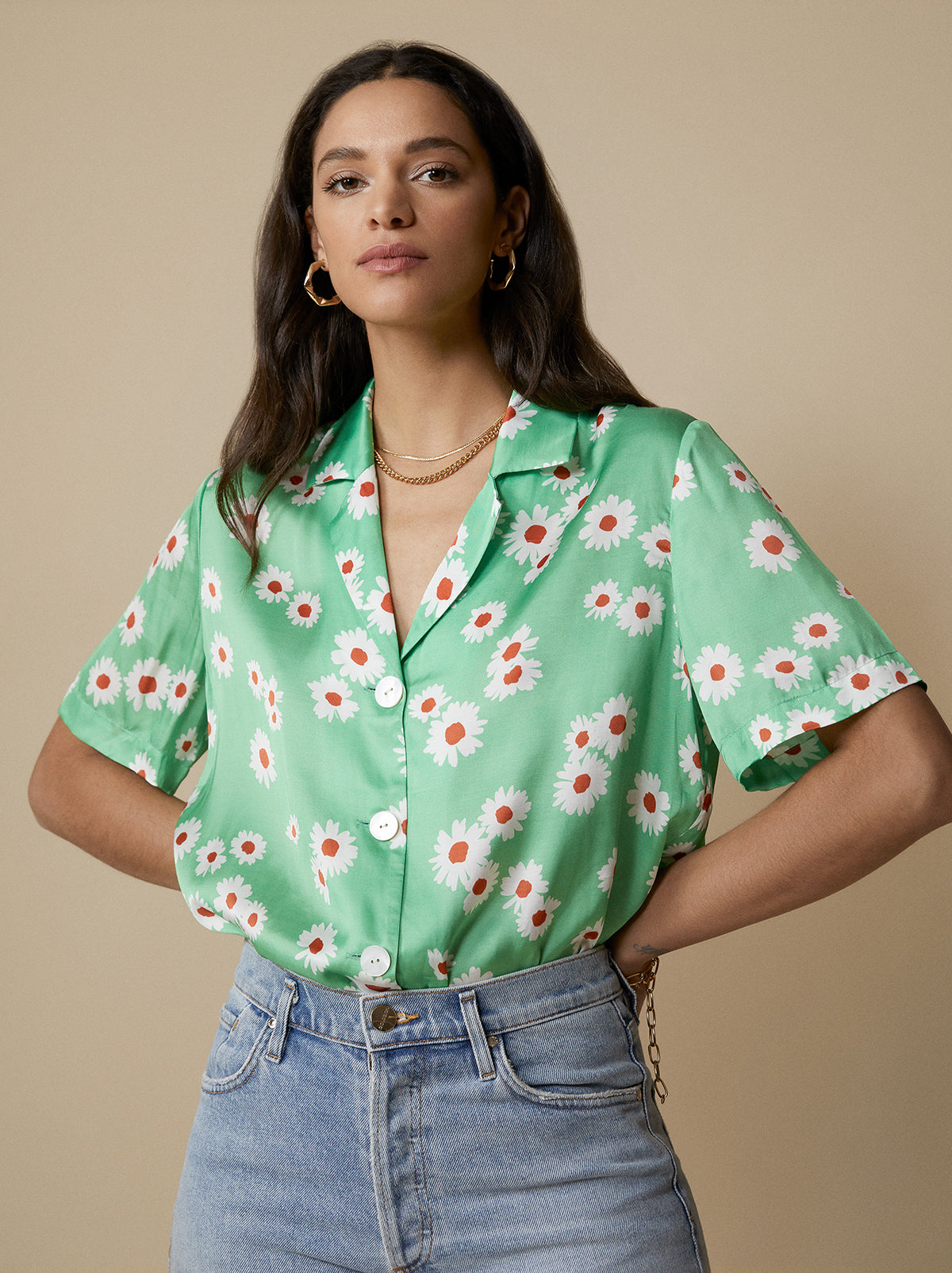 Cammy Green Daisy Top by KITRI Studio