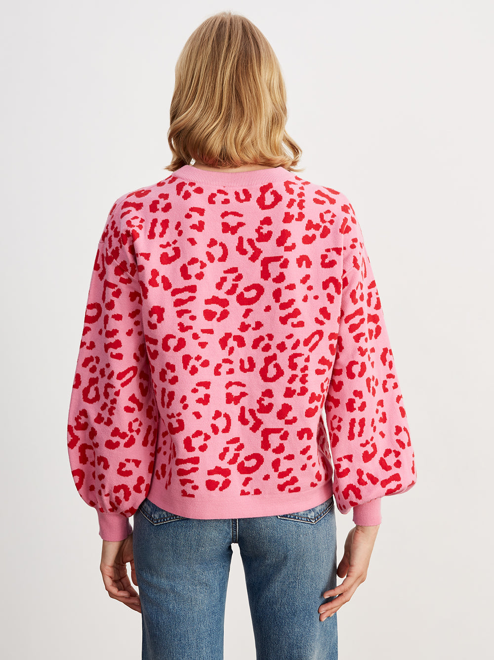 Chiara Pink Animal Print Jumper by KITRI Studio