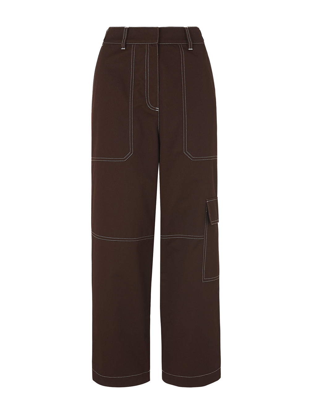 Denise Chocolate Utility Trousers by KITRI Studio